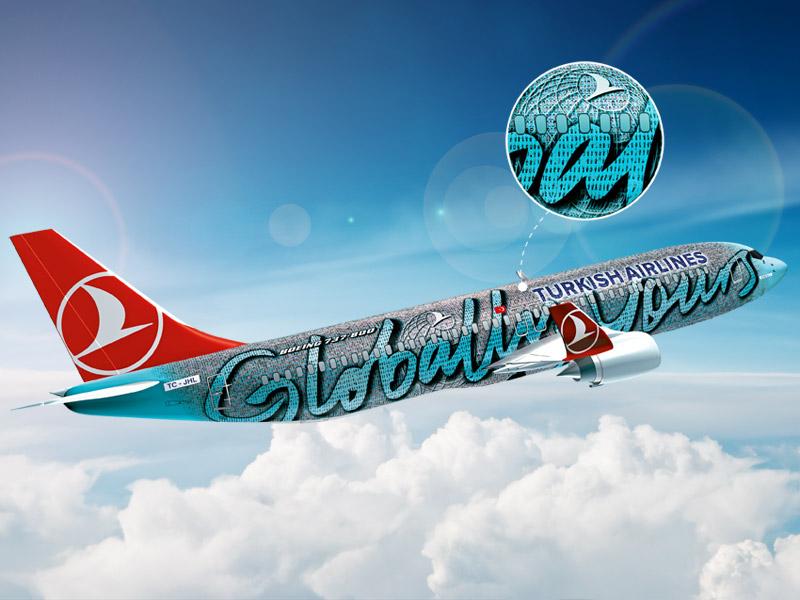 Turkish Airlines «обклеил» самолет своими сотрудниками
